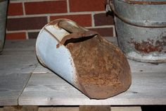 Vintage Grain Scoop - Rusty - Feed Scoop - Farmhouse Chic by CrownWillow on Etsy