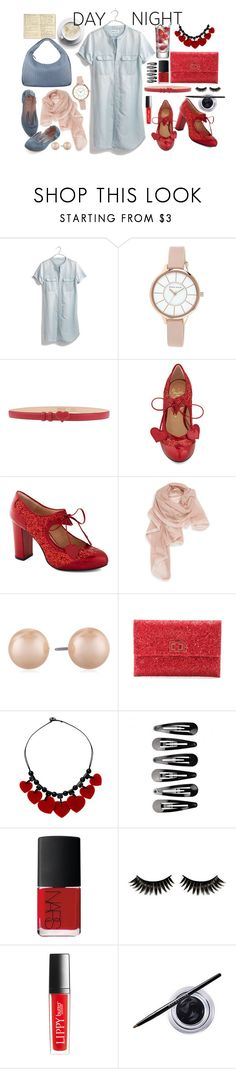 """""""off 111"""" by juuliap ❤ liked on Polyvore featuring Madewell, Anne Klein, Moschino Cheap & Chic, Minna Parikka, La Fiorentina, Carolee, Moleskine, Anya Hindmarch, NARS Cosmetics and Boohoo"""