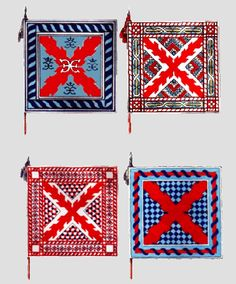 Some Spanish Tercio flags (1615 - Alarde (parade?) of Ommegang)