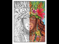 Timelapse Coloring Book Speed Art Island Goddess By Cristina McAllister