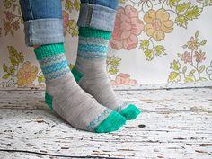 Emlyn socks by Rachel Coopey #socks #knit