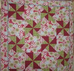 I made this crib quilt for my niece, Grace, when she had her baby, London.