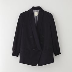 DOUBLE BREASTED SHAWL COLLAR JACKET / band of outsiders