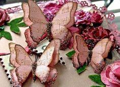 Mariposas de papel vintage