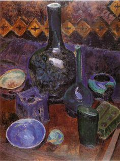 Robert Delaunay Still Life Vase and Objects c1907