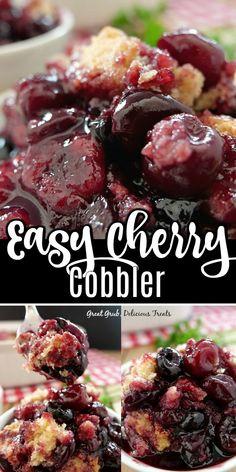 Cherry Desserts, Cherry Recipes, Fruit Recipes, Desert Recipes, Easy Desserts, Baking Recipes, Delicious Desserts, Yummy Food, Vegan Desserts