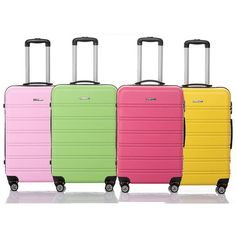 250b23f4f21a ABS 4 wheels hard shell trolley rolling luggage suitcase in six candy  colors http
