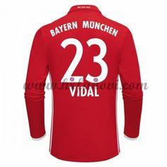 Bayern Munich Nogometni Dresovi 2016-17 Vidal 23 Domaći Dres Dugim Rukavima Komplet