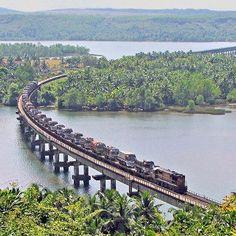 Sharavati River Bridge Near Honavar-Karnataka...    #MakaanSurvey: Which south state of India has best real estate prospects??