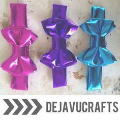 Metallic double stacked headbands baby & Adult by dejavucrafts