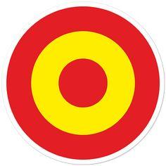 Pegatinas: Círculo bandera de España #bandera #pegatina #TeleAdhesivo