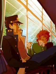 serenity by lahteh on DeviantArt Jojos Bizarre Adventure Jotaro, Jojo's Bizarre Adventure Anime, Jojo Bizzare Adventure, Johnny Joestar, Jojo's Adventure, Pokemon, Jotaro Kujo, Arte Horror, Best Couple