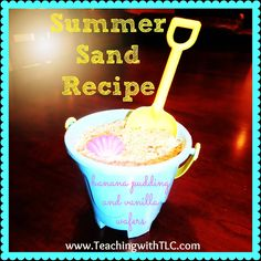 Summer sand dessert is a huge hit! {banana or butterscotch pudding with vanilla wafers}