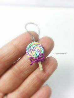 Miniature lollipops earrings,handmade earrings,miniature food,miniature lollipops,polymer clay charm,lollipops by feelminiaturius on Etsy https://www.etsy.com/listing/244632648/miniature-lollipops-earringshandmade
