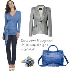 Cool blue maternity clothes