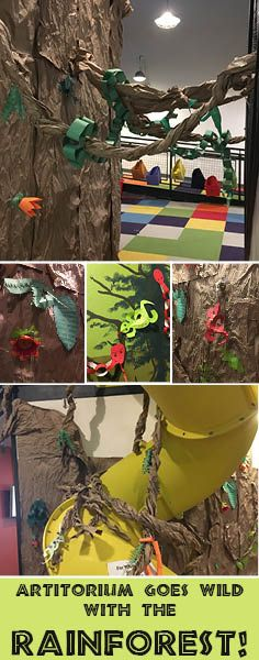 ARTitorium went wild with the Rainforest in January 2018 Idaho Falls, Interactive Art, January 2018, Broadway, Adventure, Holiday, Vacations, Holidays, Adventure Movies