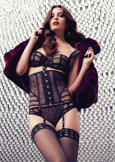 """Miss my French lingerie so bad!  My other fav brand; Aubade  Collection automne-hiver 2014-2015 """"Belle en Cavale"""", Aubade."""