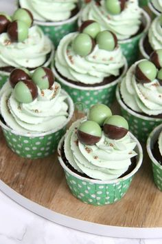 Minty & DeliciousChocolate Chip Cupcakes, topped with a Mint Buttercream and Mint Aero Bubbles make seriously yummy Mint Chocolate Cupcakes! I have aaaaalways loved Chocolate, and Cupcakes, and Minty things… so this combination seemed perfect. And it definitely was! I love using Mint in Buttercream and in Sponge mixes as it makes it a subtle yet perfect amount of flavour.. and the extra crunch almost of the chocolate chips is seriously delicious. This is another request made by my Facebo...