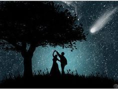 Romantic Dance under the Stars Dancing In The Moonlight, Under The Stars, Night Skies, Fantasy Art, Fairy Tales, Street Photography, Street Art, In This Moment, Urban Art