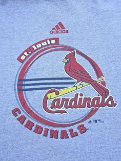 St. Louis Cardinals Baseball Adidas Heather Gray T-Shirt Sz XL #adidas #StLouisCardinals