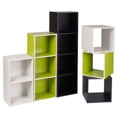 Multiple Tier Wooden Bookcase Shelving Display Storage Unit Color Office Cube