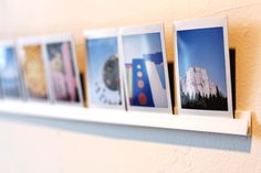 Make your own photo ledge for those Instagram shots.  Yeah, it's a bit hipster, but those Instagram photos are cool. Now, you can print them and have an easy and cheap way to display them.  Check Photojojo for even more Photo-Geek goodness.