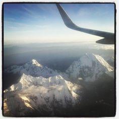 Olha que linda a vista do avião!