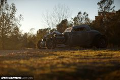 I may be the only one who's connecting the dots, or it could just be a fluke, but I think we may be on the cusp of a trend here: cars without fronts. We saw it at TAS with the military-themed hot rod Miata, then it was Jared Seganti's '37 Dodge I just wrote about ….