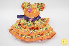 vestido caipira laranja - Pesquisa Google