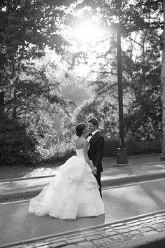 Blogger Lainy Hedaya of Haute Inhabit NYC Wedding, Bride and Groom Outside