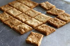 Sourdough crackers--taste like cheese but don't have any in them. From Jennifer Murch.