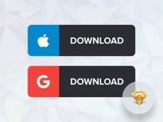 App Download Buttons - Minimal