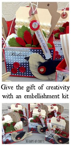 Give your artsy crafty friends and family Inspiration kits as a gift.  The perfect way to encourage creativity.