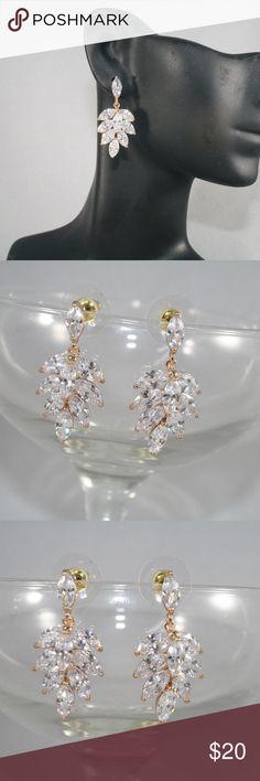 904255ef4350c Gold CZ Drop earrings Boutique My Posh Picks t Jewelry