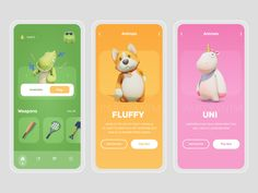 Party Animal - Game UI Concept by Tushar Imran on Dribbble Web Design, Game Ui Design, Android App Design, Mobile App Design, Game Interface, App Design Inspiration, Animal Games, Game App, Photoshop