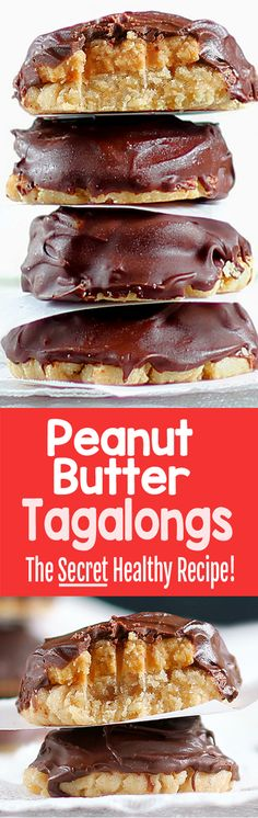 Healthy Girl Scout Cookie Tagalongs, vegan, gf, keto, and paleo options!