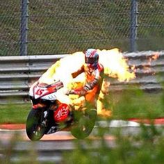 Colin Edwards on a Aprilia RS Cube at Sachsenring. #OnThisDay in 2003 #MotoGP