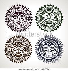 Latest Polynesian Maori Sun Tattoo Photo photo - 3