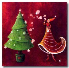 Marie Cardouat - Planting the Christmas tree illustrations