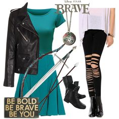 Modern day Brave Merida by starspy on Polyvore featuring WearAll, IRO, Chicnova Fashion, Roland Mouret, Merida, Primitives By Kathy, Hush Puppies, Disney, modern and women's clothing
