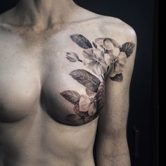 Stunningly beautiful mastectomy scar coverage by David Allen. http://www.allentattoo.com We're so glad he'll be joining us for P.ink Day Milwaukee on 10/10/2014. [p-ink.org]