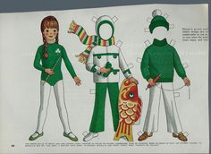 "Vintage Betsy McCall ""St. Patrick & Flying a Kite"" Paper Doll"