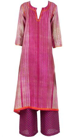 Fuschia embroidered and textured tunic available only at Pernia's Pop-Up Shop.