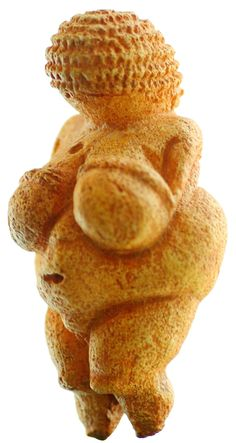 The Woman of Willendorf (a.k.a. the Venus of Willendorf), an 11 cm (4.3 in) high statuette of a female figure estimated to have been made between 24,000-22,000 BCE. Several similar statuettes have been discovered from this time period. Their purpose is unknown, although it has been speculated they may be fertility symbols or possibly self-portraits.