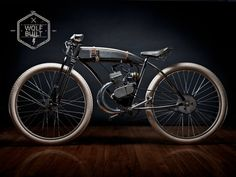 Beautiful, custom bicycles have always fascinated me.. why not put a motor on it too?