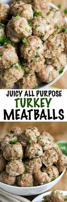 All Purpose Turkey Meatball are the best turkey meatball. They're juicy and flavorful. Perfect in pasta sauces, meatball subs or as an appetizer.