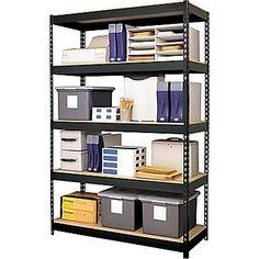 Hirsh Heavy-Duty 5-Shelf Metal Shelving Storage Unit