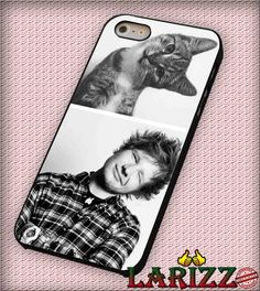"""ed sheeran with cat for iPhone 4/4s, iPhone 5/5S/5C/6/6 , Samsung S3/S4/S5 Case """"08"""""""