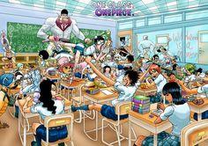 One piece (anime) nico robin school roronoa zoro chopper brook anime franky tony tony chopper monkey d luffy class nami (one piece) usopp sanji (one piece) One Piece Meme, One Piece Manga, One Piece Funny, One Piece Drawing, Zoro One Piece, One Piece Comic, One Piece Fanart, One Piece Crossover, Anime Echii