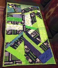 SeaHawk table runner by QuiltingMyWay on Etsy